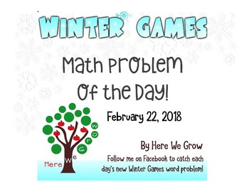 Word Problems for the Winter Games from Feb 22nd Results!