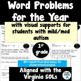 Word Problems for the Year-Students with autism