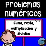 Third Grade Word Problems in Spanish-Problemas numericos de tercero