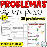Third Grade Word Problems in Spanish-Problemas numericos de tercero