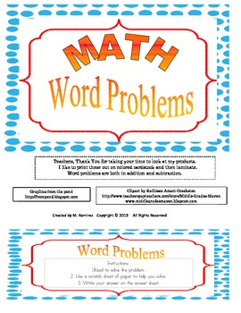 Word Problems in addition and subtraction