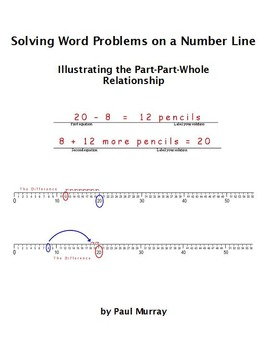 Word Problems on a Number Line:  the Part-Part-Whole Relationship