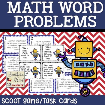 Word Problems Scoot Game/Task Cards