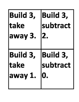 Word Problems simple subtraction 1-20