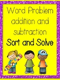 Word Problems sort and solve