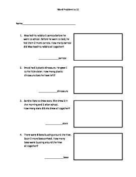 1.OA1 Word Problems to 10