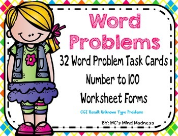 Word Problems to 100 (CGI Based Result Unknown)