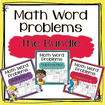 Word Problems Addition and Subtraction BUNDLE