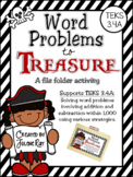 Word Problems to Treasure: A File Folder Game for TEKS 3.4A