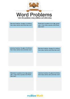 Word Problems using Addition and Subtraction 2 - Solve the problems