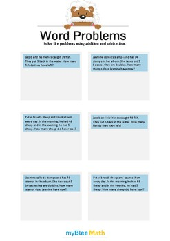 Word Problems using Addition and Subtraction 4 - Solve the problems