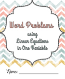 Word Problems using Linear Equations in One Variable Notes