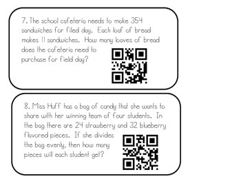 Word Problems using QR Codes