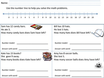 Word Problems using a number line