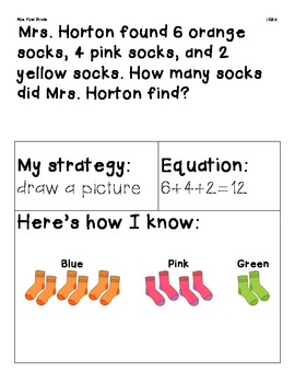 FREE Word Problems with 3 Addends 1.OA.2