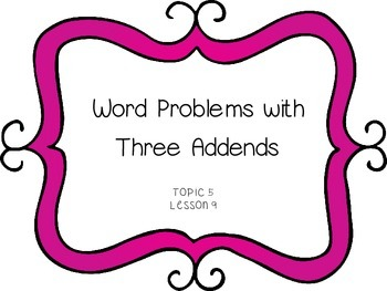 Word Problems with 3 Addends - First Grade enVision Math