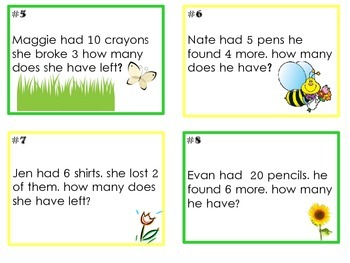 Word Problems with Addition and Subtraction