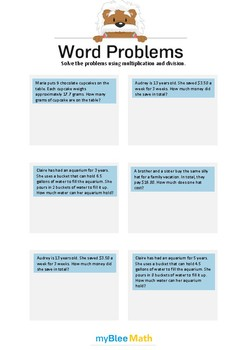 Word Problems with Decimals 5 - Solve the problems -5th grade