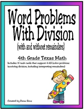 Word Problems with Division (TEKS 4.4H)