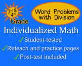 Word Problems with Division, 3rd/4th grade - worksheets - Individualized Math