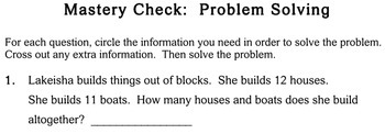 Word Problems with Extra Info, 2nd grade - worksheets - Individualized Math