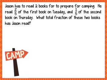 Word Problems with Fractions- 4.NF.3b