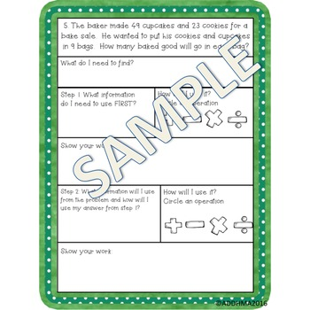 Word Problems with Graphic Organizer Bundle