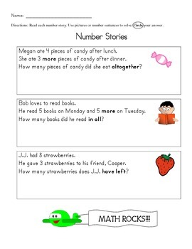 Word Problems with Key Words