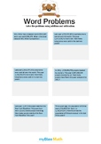 Word Problems with Large Numbers 3/4 - Solve the problems
