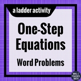 One-Step Equations Word Problems Ladder Activity