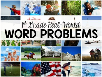 Word Problems with Real-Life Context: 40 Problems for 1st Graders