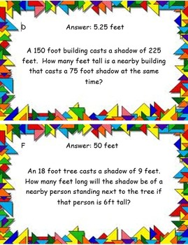 Word Problems with Similar Triangles Scavenger Hunt