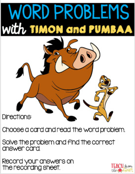Word Problems with Timon and Pumbaa