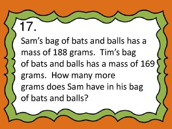 Word Problems with a Measurement Theme