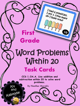 Word Problems with sums to 20.