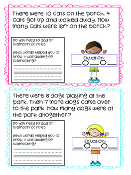 Word Problems within 20