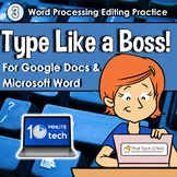 Word Processing Editing Practice - Type Like a Boss! #3 |  Distance Learning