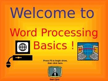 Word Processing Basics Quiz Game