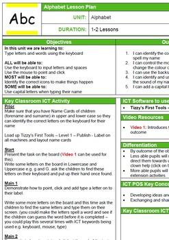 Word Processing Skills - Alphabet