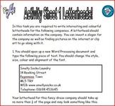Word Processing Tasks Booklet