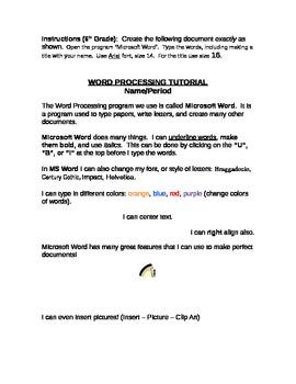 Word Processing Tutorial