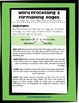 Word Processing and Formatting Pages: Quick Reference