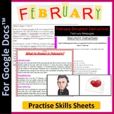 Word Processing for Google Docs™: February, Valentines Day & Rosa Parks Day