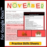 Word Processing for Google Docs™: November (Thanksgiving)