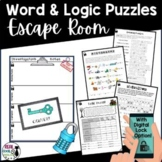 Word Puzzle Escape Room Activity | With Digital Lock Option