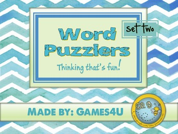 Word Puzzlers - Set #2