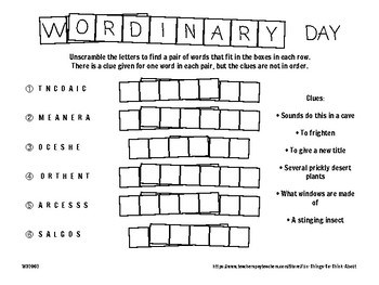 Word Puzzles #2, Ages 12+