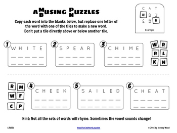 Word Puzzles #2, Ages 9+