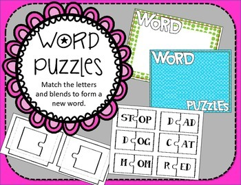 Word Puzzles / Blends / Phonics / Reading Center