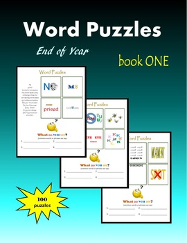 Word Puzzles:  End of Year (book ONE)